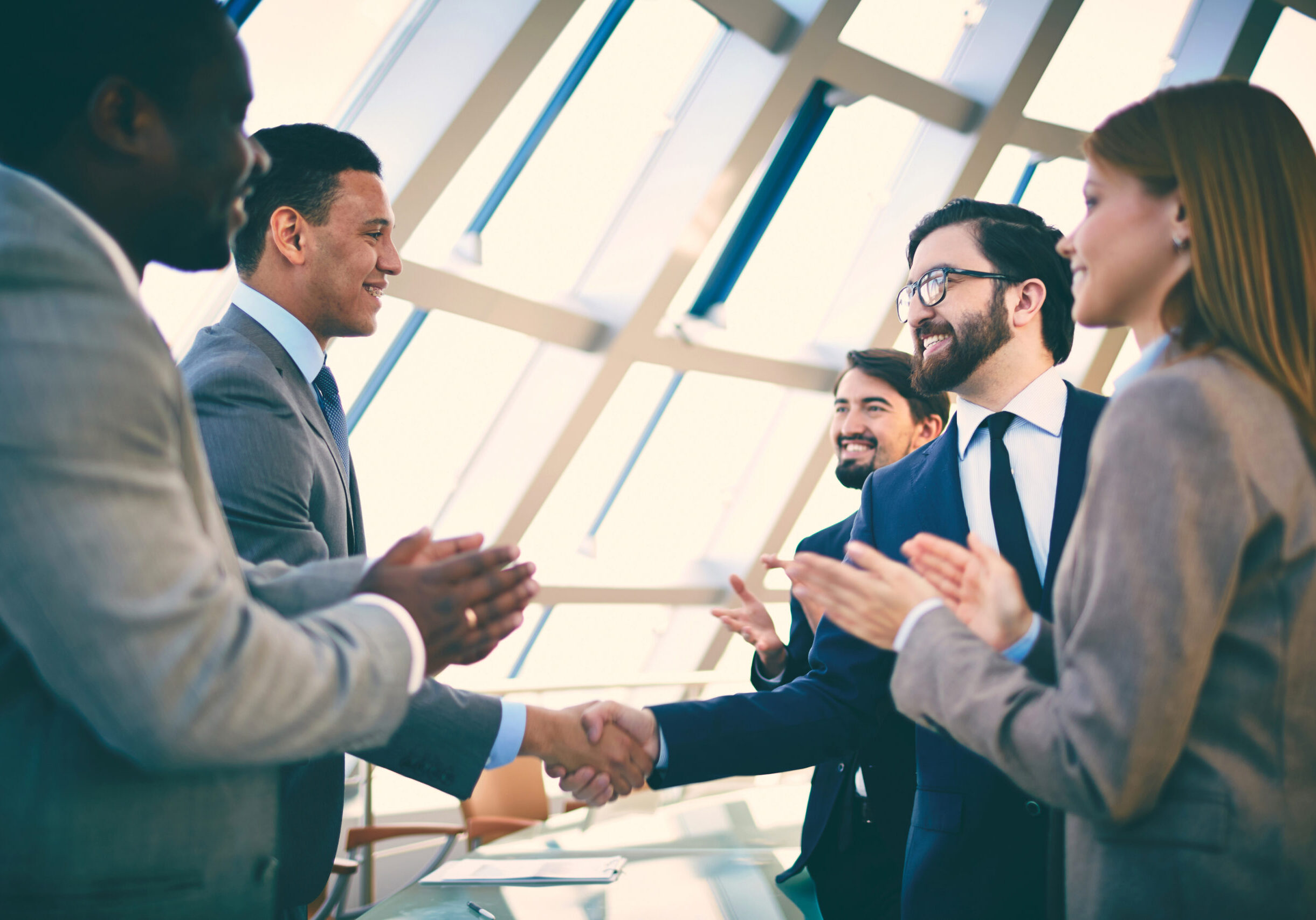 Business,Partners,Greeting,Each,Other,After,Signing,Contract